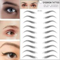 4D Hair-like Authentic Eyebrows Waterproof Tattoo Eyebrow Makeup Sticker