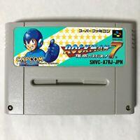 Rockman 7 Megaman Mega Man VII Nintendo Super Famicom SFC SNES Japan CAPCOM
