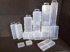 10x Transparent Box Aufbewahrungsbox Kunststoffbox Klappbox Plastikbox