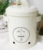 Vorratsdose Zwiebeltopf Onions Vintage Landhausstil Dose