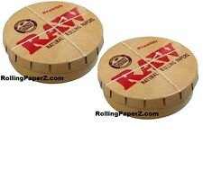 BUY TWO RAW Rolling papers Round Pop-Top Tobacco Smoking Accessories Storage Tin