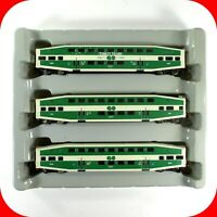 N Scale BOMBARDIER GO TRANSIT Cab Control & Coach Car 3-Pack ATHEARN 10161 *RARE