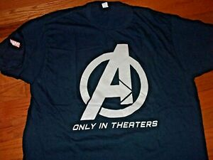 THE AVENGERS 2012 movie rare promotional t-shirt Adult X-Large MARVEL