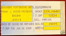 1989 Bon Jovi Concert Ticket Stub