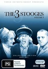 """""""THE 3 (THREE) STOOGES"""" - Volume 3 (DVD 6 Disc Set) Collectors Edition, Box Set"""