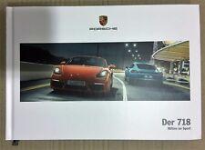 Porsche 718 Boster Cayman folleto brochure