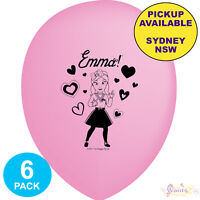 THE WIGGLES PARTY SUPPLIES 6 PINK LATEX BALLOONS EMMA BIRTHDAY DECORATIONS