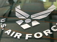 """US Air Force Chrome Silver Decal Sticker 4"""""""