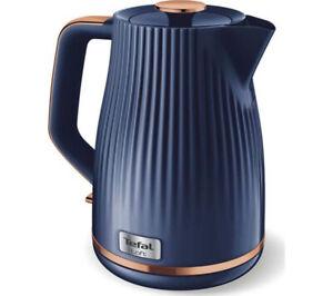 Tefal KO250440 Jug Kettle 1500W Loft Rapid Boil 1.7L Midnight Blue & Rose Gold