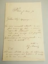 Giuseppe AURELI (1858-1929) / Lettera autografa -- eigenhändiger Brief von 1892