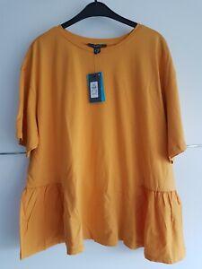 Shirt in senfgelb von primark Gr. 48 neu