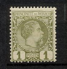 (YYAN 010) Monaco 1885 MLH Prince Charles III Mich 1 Scott 1