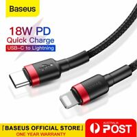 Baseus 18W PD Cable USB C to Lighting Charging Cable for iPhone 12 Pro XS Max