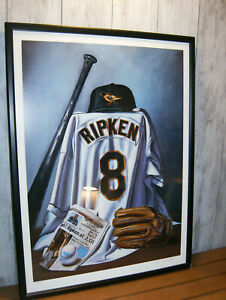 "Bill Williams ""Ripken Still Going"" Artist Signed Lithograph 1995 Cal Ripken Rare"