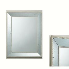 Large Antique Mirror Rustic Gold/Cream  Frame Wall Mounted 90x70cm