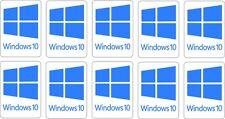 Windows 10 Stickers TEN (10) 22 x 16 mm each