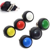 KIT 6 pz. 6 colori pulsante IMPERMEABILE ROTONDO 12 mm momentaneo 3A