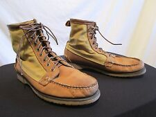 SEBAGO FILSON Light Brown Leather & Canvas Lace Up Hiking Ankle Boots Mens Sz 8