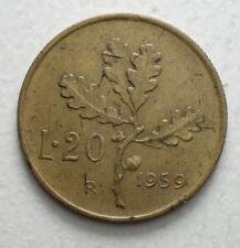 1959 Repubblica Italiana   20 lire
