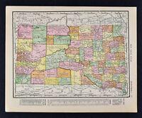 1911 McNally Index Map - South Dakota  Pierre Rapid City Deadwood Sioux Falls SD