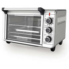 BLACK+DECKER TO3000G 6 Slice 1500W Convection Toaster Oven   Silver