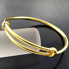 BANGLE CUFF BRACELET GENUINE REAL 18K YELLOW G/F GOLD SOLID LADIES GOLF DESIGN
