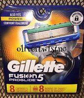 Gillette Fusion 5 Proglide Power Cartridges 8 CT Razor Blades Authentic 2549