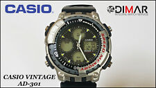Vintage Casio AD-301 Diver 656 2/12ft Speed Memory QW.1391. Year 1996. Belt Mix
