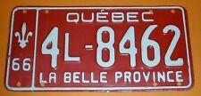 1966 Quebec Canada License Plate 4L - 8462