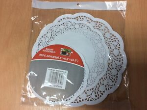 48 Assorted Paper Doilies - Round - Party - Wedding - Free Post