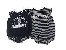 Seattle Mariners MLB Majestic Infant Girls Size 2 Piece Creeper Bodysuit Set New