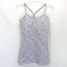 Lululemon Power Y Tank Top Size 2 Wee Are From Space Ice Grey Alpine White