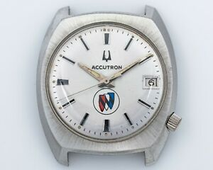 Vintage 1976 Stainless Steel Bulova Accutron Cal. 2181 Award Watch out of Estate