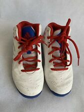 ADIDAS NBA youth boys size 2 high top basketball boots shoes white leather lace