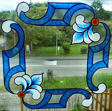 WICOART WINDOW COLOR STICKER CLING FAUX STAINED GLASS lot 2 ANGLES DECO 20X20 CM