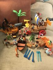 Jake And The Neverland Pirates Peter Pan 14 Figures Pirate Ship Disney Mattel