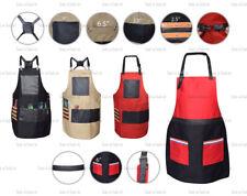 Pro Unisex Cotton Apron Salon Barber Stylist with PU Leather Pockets & Straps