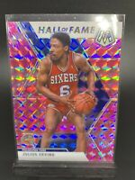 Julius Erving Dr J 2019-20 Panini Mosaic Basketball Pink Prizm Hall Of Fame #288