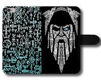 Gods Warriors Odin Thor Vikings Gods Mythology Magnetic Leather Phone Case Cover