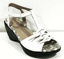 J-41 Women's Alexandria Platform Wedge Sandals Shoes White 11 NEW IN BOX