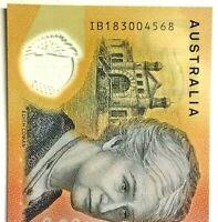 2018 $50.00 Australian banknote, Last Prefix IB183004568 CFU