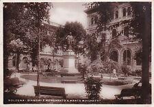 BOLOGNA - Giardini e Monumento a Marco Minghetti 1938