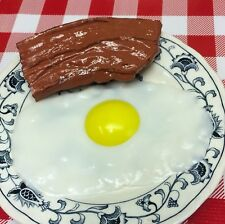 Faux Fake Food Replica Bacon & Egg Breakfast Lot Home Stage Theatre Movie Props