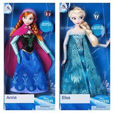 "Disney Store ANNA and ELSA Classic 12"" Dolls Frozen"