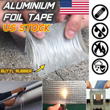 Super Strong Waterproof Tape Butyl Seal Rubber Aluminum Foil Tape 100mm x 5m