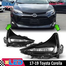 Fits 17-19 Toyota Corolla PAIR LED Replacement Daytime Running Lights Kit Clear
