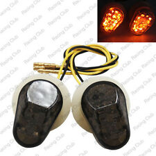 LED Flush Mount Front Turn Signals Light For Yamaha FZ1 FZ6 YZF R1 R6 Smoke