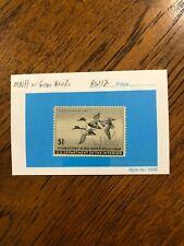 Rw 12 1945 $1.00 Shoveller Ducks Duck Stamp, Mint Never Hinged - Nice!