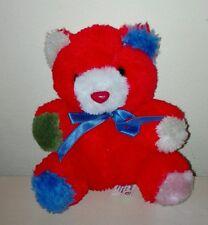 Peluche orsetto rosso sanagens originale nuovo idea regalo plush soft toys