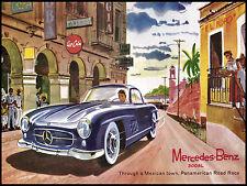 Mercedes Benz, Retro Metal Fridge Magnet,100mm x 75mm Novelty Gift
